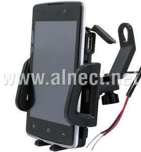 Jual Motorcycle Phone Holder USB DC Charger Spion - Docking & Holder - Alnect Komputer Web Store