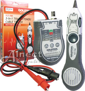 Jual 3 In 1 Tracer Toner Cable Tester Goldtool Tct 700
