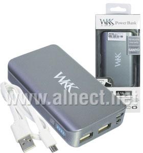 Jual Portable Power Bank WKK W066 7800mAh